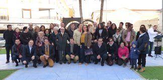 Inauguración del monumento a los donantes de sangre en Montijo