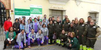 Participantes en la Escuela Profesional Montijo te cuida 2