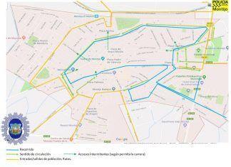 Plano del recorrido de la III Media Maratón Villa de Montijo
