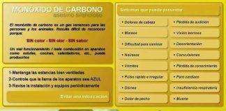 Precauciones contra el monóxido de carbono