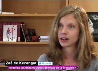 La investigadora Zoé de Kerangat analiza las filmaciones de las exhumaciones en Montijo
