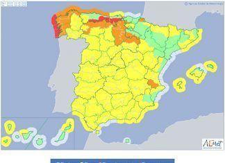 Alerta amarilla por vientos en toda Extremadura