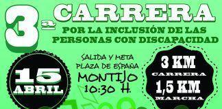 Cartel III Carrera plena Inclusión Montijo 2018