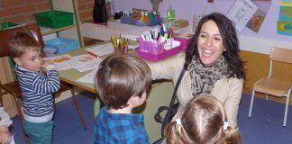 Visita de la consejera de Educación y Empleo, Esther Gutiérrez, en el CEIP Padre Manjón de Montijo