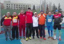 Lanzadores que disputaron la mejora en la final (Manuel Nieto Ramón, segundo por la izquierda)