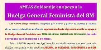 Manifiesto de las AMPAS de Montijo.