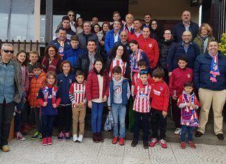 La Peña Atlético de Madrid de Montijo asistió al primer partido del Día del Niño en el Estadio Metropolitano del Club Atlético de Madrid