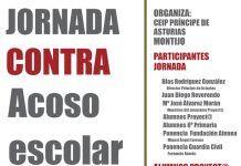 Cartel Jornada contra acoso escolar del Programa Proyect@ del CEIP Príncipe de Asturias de Montijo