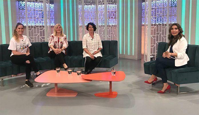 Mariya Bakhovska, presidenta de la Asociación de Inmigrantes Vegas Bajas, en La Tarde de Canal Extremadura TV