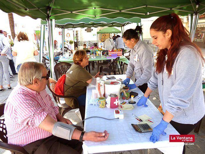 Uno de los stands de la Feria de la Salud Montijo 2018