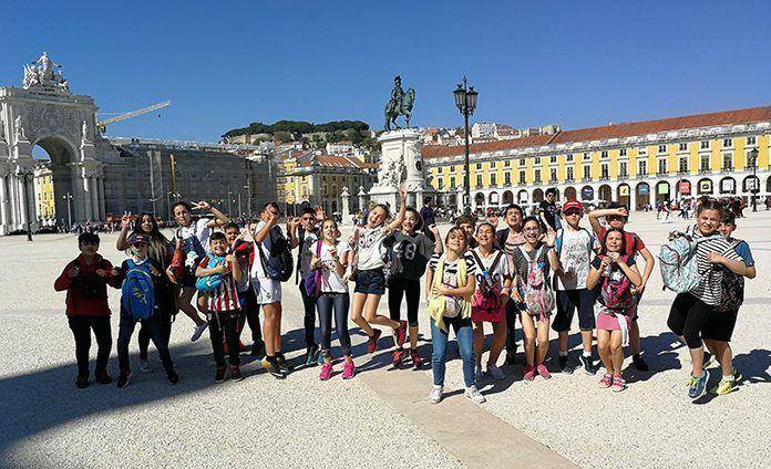 Viaje de alumnos del CEIP Príncipe de Asturias a Montijo (Portugal)
