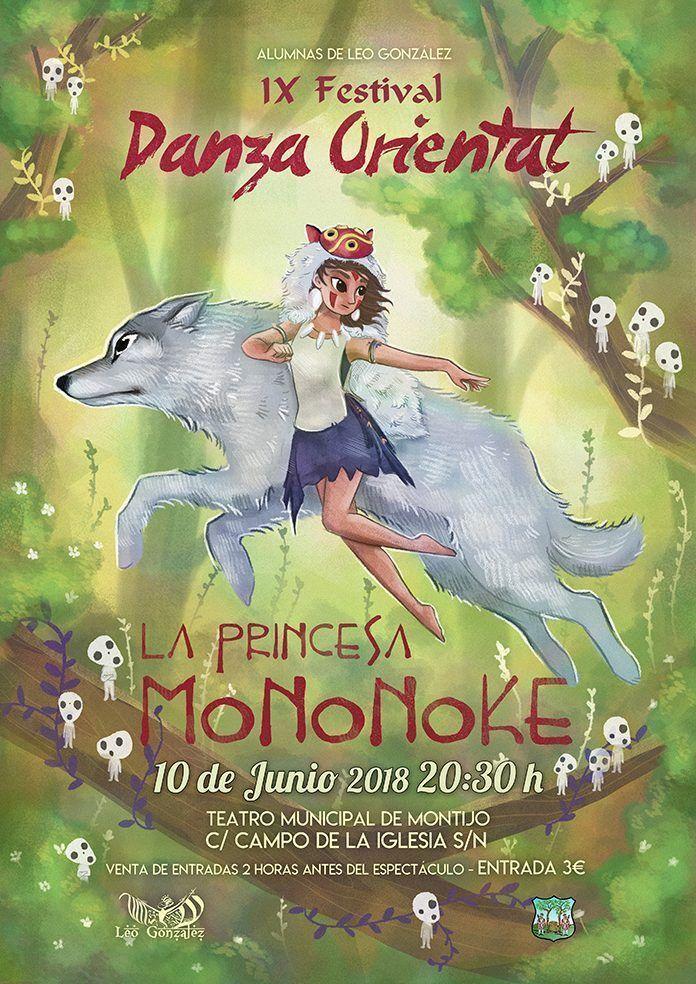 La Princesa Mononoke, cartel del Festival de Danza Oriental de las alumnas de Leo González