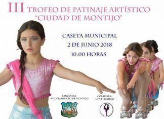 Cartel III Trofeo de patinaje artístico Ciudad de Montijo
