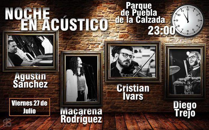 Cartel Noche en Acústico en Puebla de la Calzada