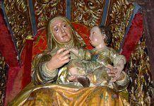 Imagen de Santa Ana con la Virgen niña. Blas Molner, 1782 (foto: VentanaDigital.com)