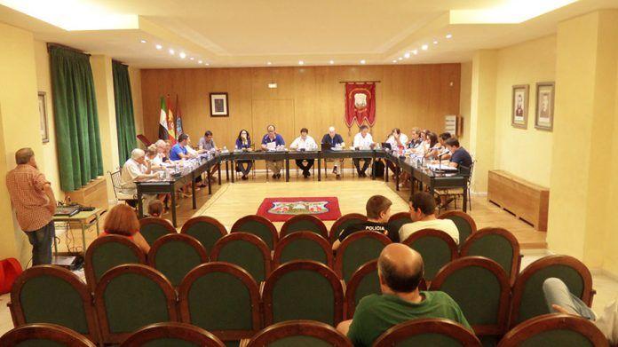 Pleno del Ayuntamiento de Montijo julio 2018.
