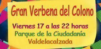 Cartel Verbena del Colono 2018 en Valdelacalzada