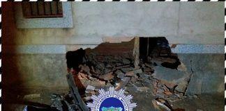 Aparatoso accidente en Montijo (foto Policía Local)