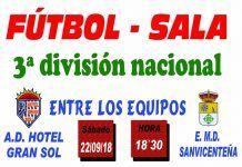 Cartel AD HOTEL GRAN SOL MONTIJO FS vs EMD SANVICENTEÑA