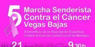 Cartel V Marcha Senderista contra el Cáncer Vegas Bajas