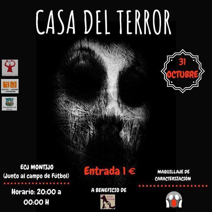 Cartel Casa del Terror en Montijo