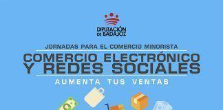 Cartel Jornadas para el comercio minorista en Puebla de la Calzada