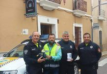 Clawhauser con la Policia de Montijo