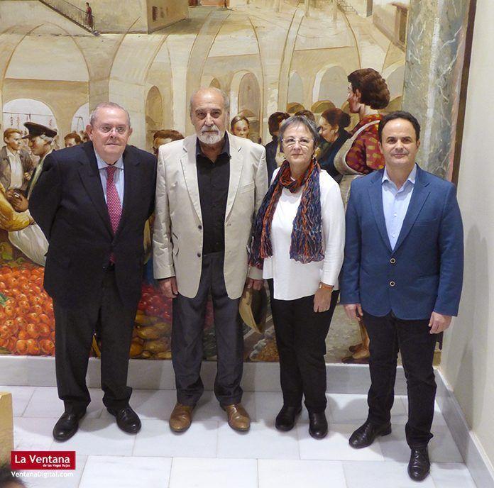 Homenaje al pintor Alberto Pirronguelli en Montijo