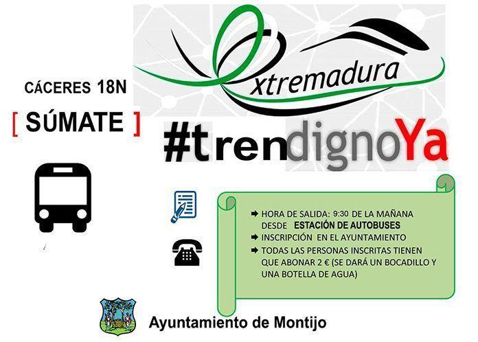CONVOCATORIA TREN DIGNO 18 NOVIEMBRE Cáceres