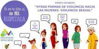 Cartel Charla-Coloquio Otras formas de Violencia hacia las Mujeres. Violencia Sexual,