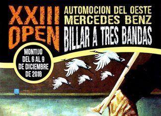 Cartel XXIII Open Mercedes Benz de billar a tres bandas de Montijo