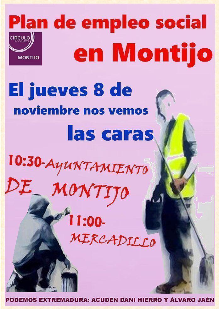 cartel empleo social Podemos