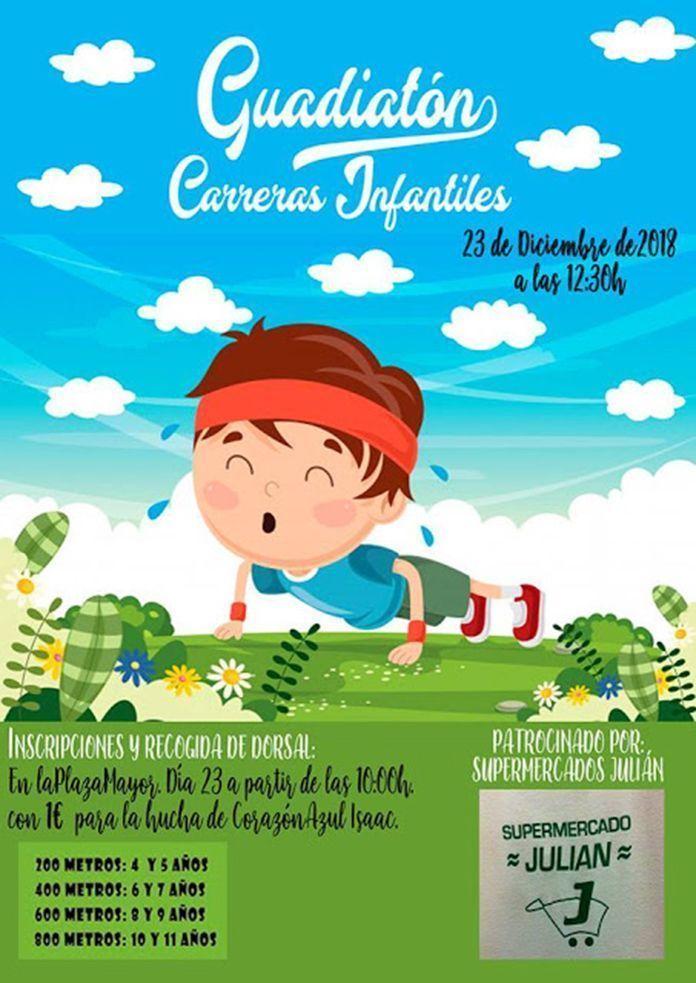 Cartel Guadiatón carrera infantil