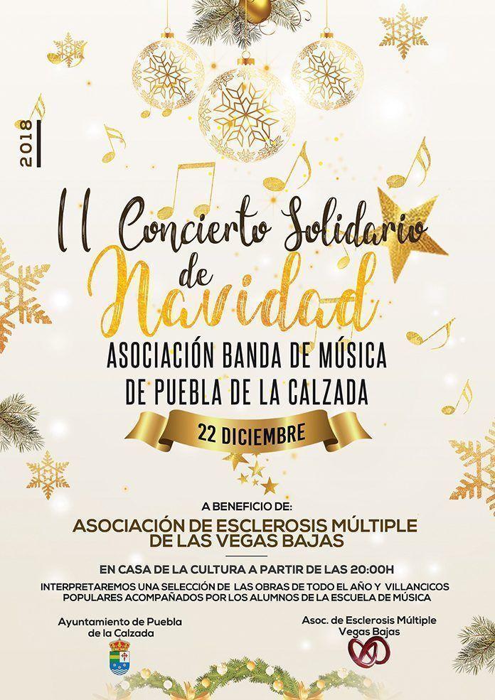 Cartel II Concierto solidario de navidad de Puebla de la Calzada