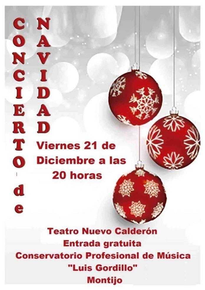 Cartel del Concierto de Navidad 2018 del Conservatorio Profesional de Música de Montijo