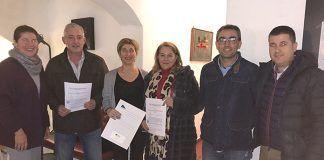 Firma de convenio entre Plena Inclusión Montijo y la Asociación de Empresarios de Montijo (AEM)