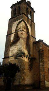 Inmaculada Concepción proyectada en la iglesia de San Pedro Apóstol de Montijo