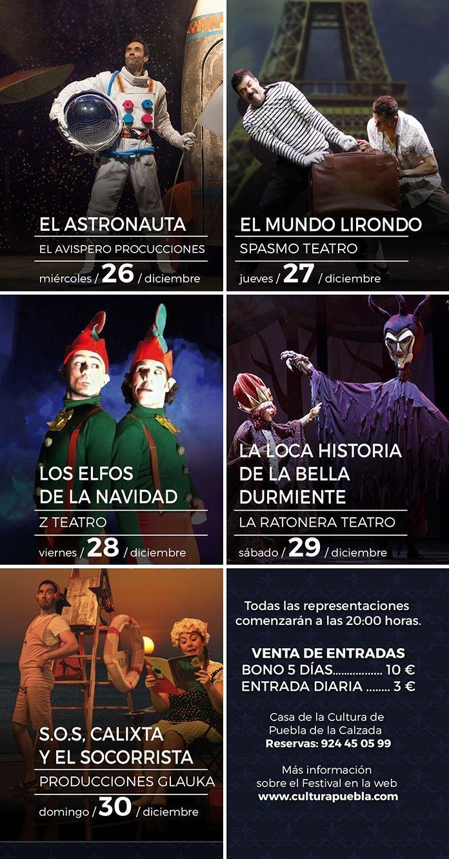 Programa Teatreves 2018 Puebla de la Calzada