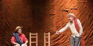 """La compañía Titzina Teatro presenta la obra teatral """"La Zanja"""" en el Teatro Nuevo Calderón de Montijo."""