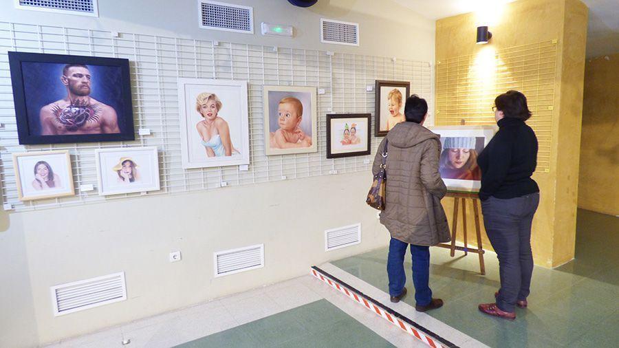 La exposición cuenta con obras de un gran realismo.