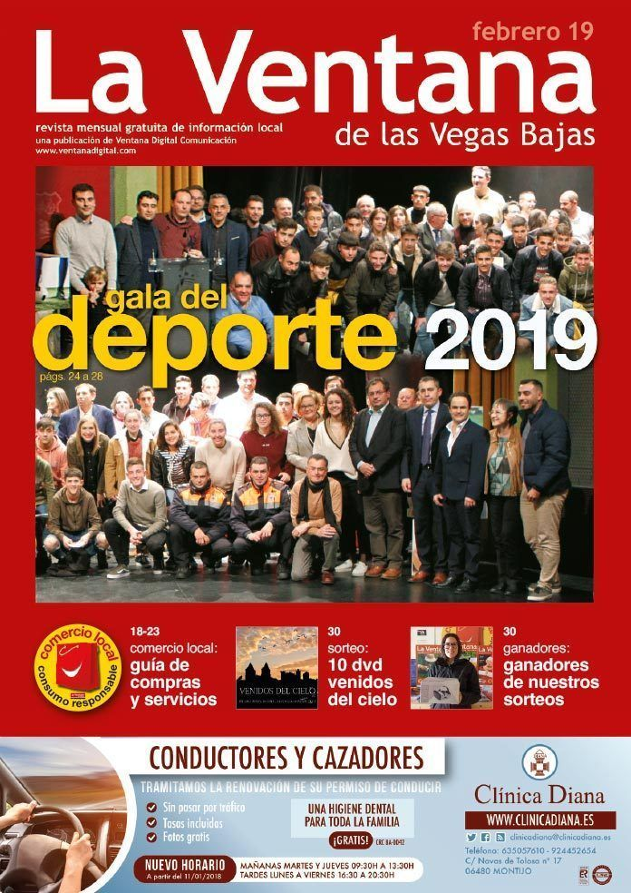Portada revista La Ventana de las Vegas Bajas de febrero de 2019