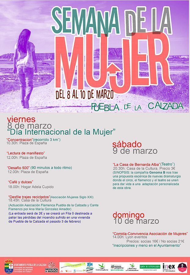 Cartel de actividades para la Semana de la Mujer.