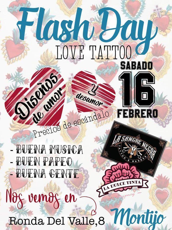Tattoo flash day 2019 sangre negra montijo dulce tinta