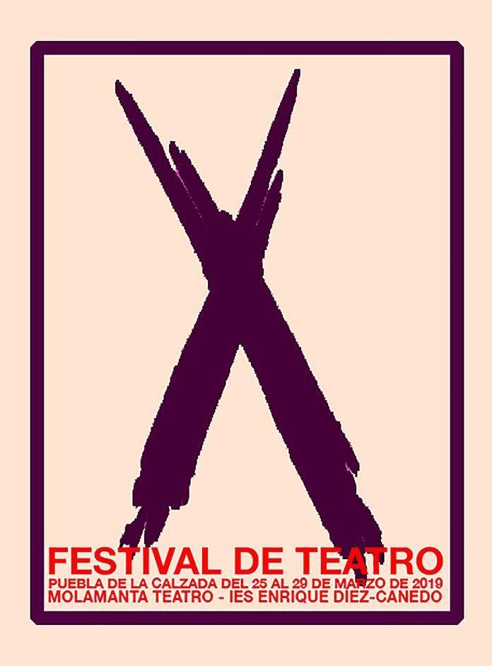 cartel-X-Festival-de-teatro-ies-diez-canedo