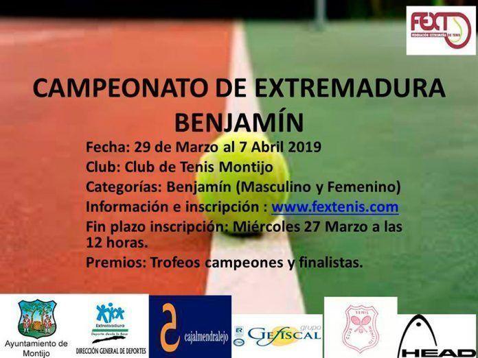 Campeonato de Extremadura Benjamín de tenis en Montijo