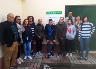 """Alumnos del proyecto """"Torremayor-Barbaño en marcha""""."""