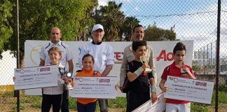 Isabel Hernández y Marcos Romero se proclaman en el club de tenis Montijo campeones benjamines de Extremadura