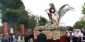 Procesión de La Borriquita en Puebla de la Calzada (Foto: Teodoro Gracia)