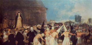 los disciplinantes Goya La Semana Santa en Montijo a través de su historia