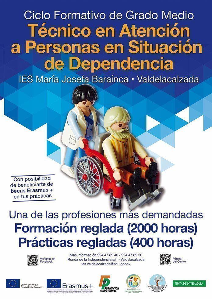 Abierto el plazo para la FP del Ciclo de Atención a la Dependencia de Valdelacalzada